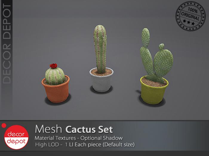 [DD] - FULL PERM  Cactus Set