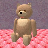 Teddy Bear sitting in brown (3 prims only)