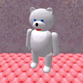Teddy Bear standing in white (3 prims only)