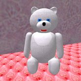Teddy Bear sitting in white (3 prims only)