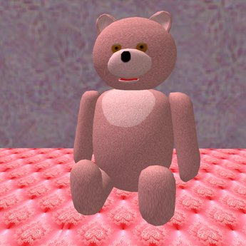 Teddy Bear sitting in pink (3 prims only)