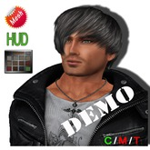 """DEMO eDeLsToRe man mesh hair """" Samuel """" all colors  (HUD)"""