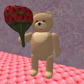 Teddy with Roses (4 prims only)