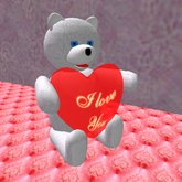 Teddy with Heart (4 prims only)