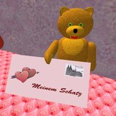 Teddy with Mail (4 prims only)