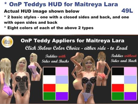 OnP Teddies HUD for Maitreya Lara Usage