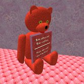 Teddy with Picture Frame Changer (only 4 prims!)