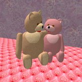 Teddy Bears cuddling (only 6 prims)