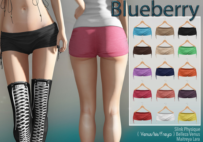 Blueberry Elina Shorts - Maitreya / Belleza / Slink - Fat Pack