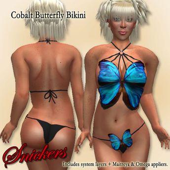 *Snickers* - Cobalt Butterfly Bikini v2