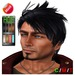 """eDeLsToRe men mesh hair """" Blake """" all colors HUD (Special Rigged Fitted Mesh Hair)"""