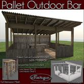 Pallet Outdoor Bar - Low Impact - Full Perm Mesh