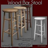 Wood Bar Stools - Low Impact - Full Perm Mesh
