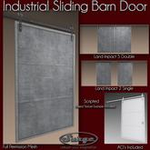 Industrial Sliding Barn Door - Low Impact - Full Perm Mesh