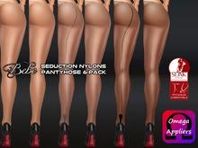 Bebe Pantyhose Seduction 6-Pack for OMEGA + SLINK PHYSIQUE