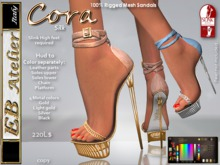 EB Atelier - CORA Sandals Silk with HUD • Slink Feet High required  - italian designer