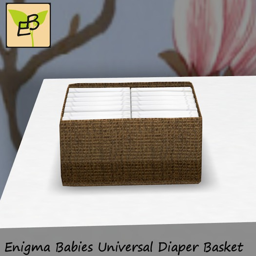 Enigma Babies Universal Diaper Basket - Two Tone