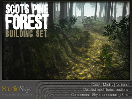 Skye Scots Pine Forest Building Set - 4 Season Trees