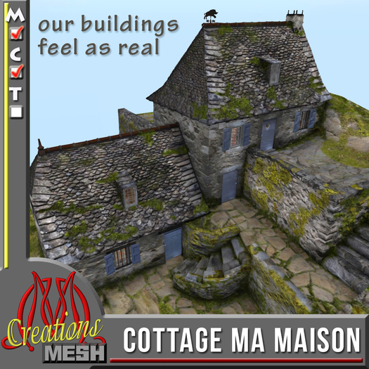 Cottage MA MAISON COPY MODIFY, medieval cottage in a French rural setting