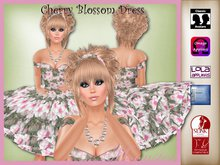 Cherry Blossom Dress and Necklace by Moonstar T