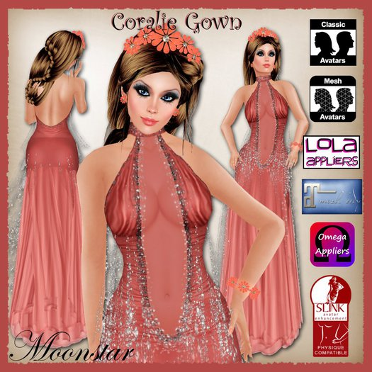 Coralie Gown and Jewellery by Moonstar T