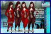 **((S.A))** Bodysuit Raven Red TMP, Maitreya, Belleza