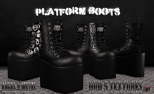 .:Angel of Metal:. Platform Boots