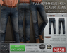 -TD- TEMPLATES - Mens MESH CLASSIC Jeans w/FitMesh (Bootcut Fit) *FULL PERMS*