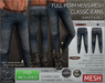 -TD- TEMPLATES - Mens MESH CLASSIC Jeans w/FitMesh (Slim Fit) *FULL PERMS*