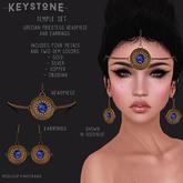 .Keystone. Temple Jewellery set [Box]