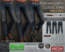 -TD- TEMPLATES - Mens MESH CLASSIC Jeans w/FitMesh - TRIPLE PACK - *FULL PERMS*