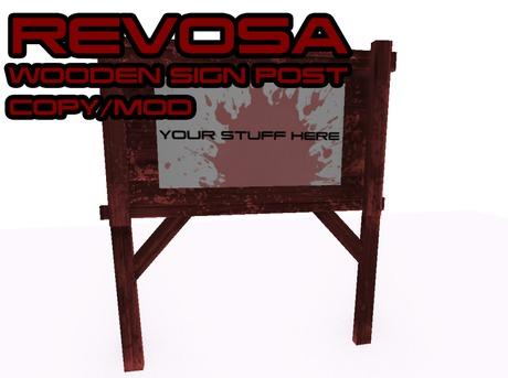 REVOSA Wooden Sign Post