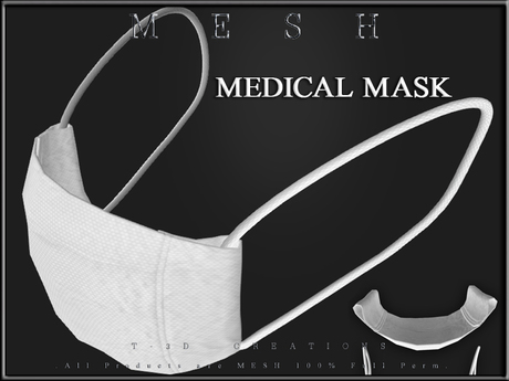 T-3D Creations [ Face Mask Medical ]  Micro MESH - Full Perm -