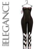 """Elegance Boutique -Jumpsuit  """"Nina"""" -Brown Striped"""