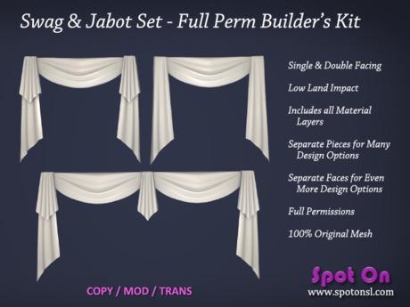 Spot On Swag & Jabot Set - Full Perm Builder's Kit