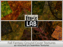 Fabric Lab Fantasy Fall Seamless Groundcover Terrain Texture Set Autumn Textures Fall Grass Forest Ground