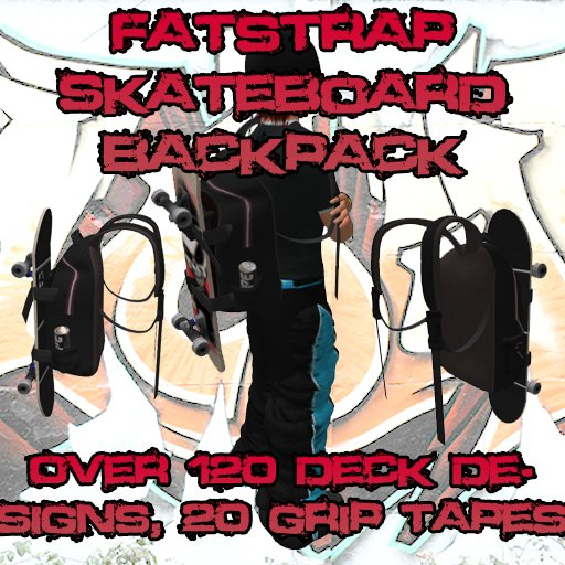 [FYI] Fatstrap Customizable Skateboard Backpack with 120+ Deck Designs, 20+ Grip Tape designs, all menu controlled