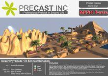 Desert Pyramide - 1/2 Sim Club and Mall Combination MESH PARTS