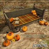 "[CIRCA] - ""Autumn Harvest"" Pumpkin Cart & Blanket Set"