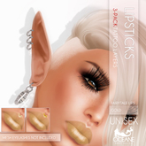Oceane Fairytale Lips 3-pack Gold [Classic]