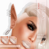 Oceane Fairytale Lips 3-pack White [Classic]