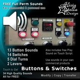 Free Buttons, Switches and Lever Sounds - Full Perm Set - 34 Sounds