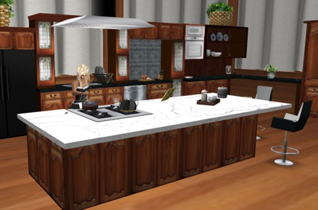 J S Kitchen Island With Granite Top