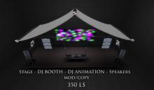 Pixlights stage dj booth animation dj  ( LIGHTING CLUB LIGHTS LASER SMOKE LASERLIGHT  beam club spot