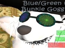 [Fur] - Blue/Green uv Bunkie Goggles [BOXED]