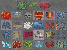 27 Grafitti textures alpha - graphiti - graffiti