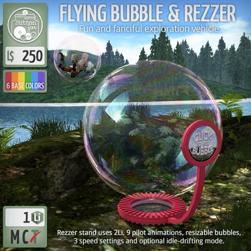 ButtonJar - Flying Bubble & Rezzer - MESH