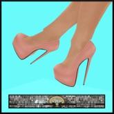 ***VHD Perfect Peach Mesh Stilettos (SL feet) - Boxed