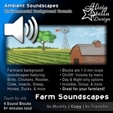 Farm Soundscapes - 8 Total Mins of Ambient Sound in 4 Sound Blocks - Farmland and Countryside Sounds