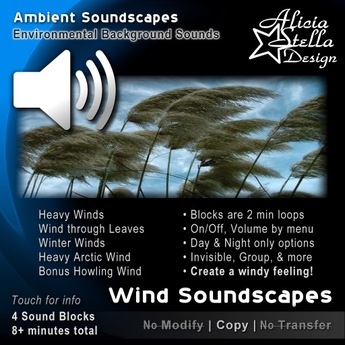 Heavy Wind Soundscapes - 8 Total Mins of Ambient Sound in 4 Sound Blocks - Wind and Wind Through Leaves Sounds